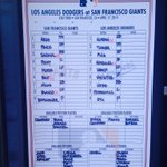 RT @SFGiants: #SFGiants vs #Dodgers 1st pitch 12:45 #BeatLA http://t.co/o5wShe5kIW