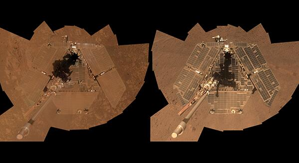 So fresh & so clean. Wind cleaned Oppy's solar panels. Energy aids science: http://t.co/tfnrVH1Ifj http://t.co/Z2hHKaWvxk