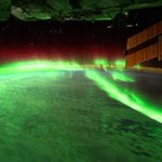 A stunning photograph of Northern Lights seen from the International Space Station http://t.co/RvLyIAce6Q