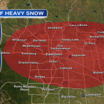 EnviroCan has issued a Special Wx Statement for the areas in RED on this map.  Heavy snow psbl tonight & Fri #yegwx http://t.co/eVfNEFRoTn