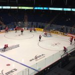 . @ErieOtters are on the ice for pre-game warmups #erie http://t.co/E0Lk6d05eC