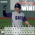 RT @kstatesports: CATS WIN! Game 2 between the #BatCats & Baylor is tomorrow @ 6:30 pm! http://t.co/tTIid3E6fc