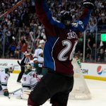 AVALANCHE WIN IT! Paul Stastny is the hero. He scores late in 3rd and gets the game-winner. Avs beat Wild in OT, 5-4 http://t.co/k6jTr0SMsx