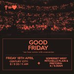 RT @Nushie17: For God so loved the world that He gave His only son! Dont forget to join us TODAY at @HillsongSAfrica #Goodfriday http://t.co/1xj8qb8Q3u