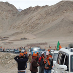 """@BJPAmethi: Amazing sight , BJP rally at #Ladakh --> #Jammu & #Kashmir http://t.co/1Aald2xoUa"" "