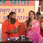 Baba Ramdev campaigning for Hema Malini in Mathura http://t.co/pyTrW4qOMe