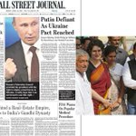 US will rise to this @WSJ front page of Gandhi family splashed for the wrong reasons #india #elections #robert #vadra http://t.co/jg39YIGlRL