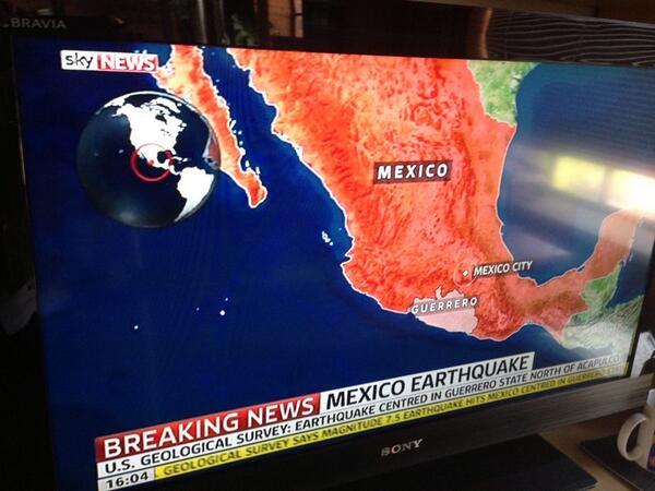 La noticia del temblor se reporta hasta en los noticieros de Londres... H http://t.co/WWB8DKmGl1