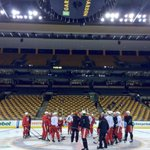 Practice just started here in Boston; Zs skating again with the team #RedWings http://t.co/ghwXjB8zd5