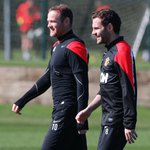 Rooney and Mata in training. http://t.co/hGWl5LR9Hu