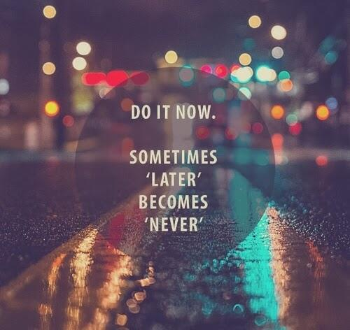 Amen! ^an RT @oneworld365: Travel now. Sometimes later becomes never. http://t.co/py1snMRkzK