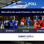 RT @premierleague: How do you see Everton v Man Utd going? Head to http://t.co/IoHvUt0mJ9 to vote #EVEMUN http://t.co/ACgNPBNuhp