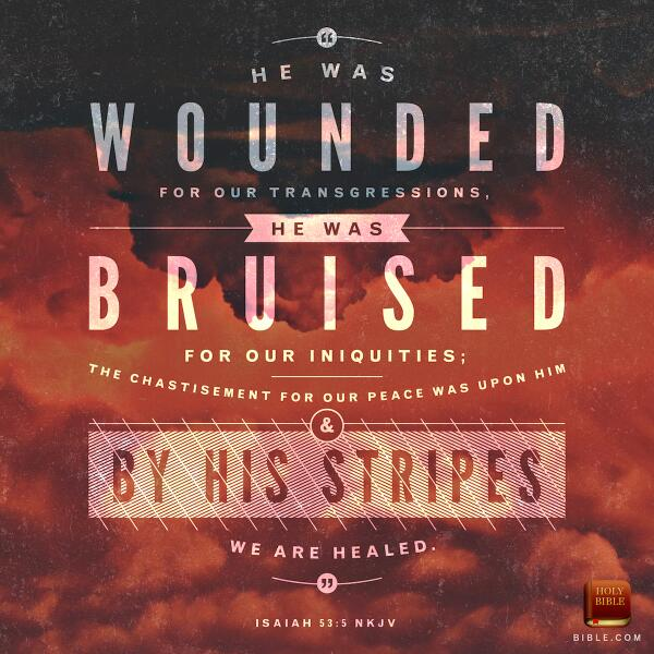 """""""He was wounded for our transgressions...by his stripes we are healed."""" #GoodFriday #HolyWeek http://t.co/qMTynTRreW"""