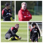 Manchester United training this morning ahead of the PL clash against Everton on Sunday. #MUFC #MANUTD http://t.co/wY9W5Qi1P6