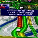 #KCtraffic update: one lane now open on Broadway Bridge. http://t.co/vB1SDayfCo