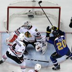 The moment when Alexander Steen realized he won a thrilling, triple OT Game 1 for the @StLouisBlues. http://t.co/Pr0vKAyqVf