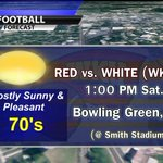Dont forget..WKU Spring Game is Saturday! Gorgeous Weather on tap! @JeffBrohm @WKUSports #NBC40weather #BrohmSquad http://t.co/f3Ta4FfBke