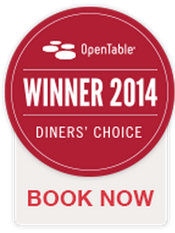 We're honored to be one of April '14 @OpenTable Diners' Choice restaurants! Thanks to all who gave us high ratings. http://t.co/ppmocPIDhX