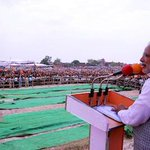 Spoke at 2 rallies in UP & 2 in MP. This picture is from the rally in Etawah http://t.co/luz36b5TXk