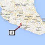 7.5 Mag earthquake, Guerro, Mexico.  9:27am CDT. Pretty deep: 32 miles. http://t.co/EzJq5BbQR9