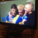 RT @craigpol22: @willhughes44 bet you wernt expexting a hug off me haha #dcfc #awayday#onthepitch http://t.co/tVA4QClRBh