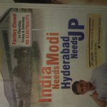 RT @vsumanthkumar: Interesting ad by jp ..India needs modi ,hyd needs jp ..everybody using modi ji name for votes ... http://t.co/jEGHhsuxrZ