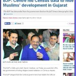 RT @anilkapurk: BJP: Centre hid Census data to hide Muslims development in Gujarat http://t.co/ylSDOGkqRE http://t.co/nSDXRaJB3W