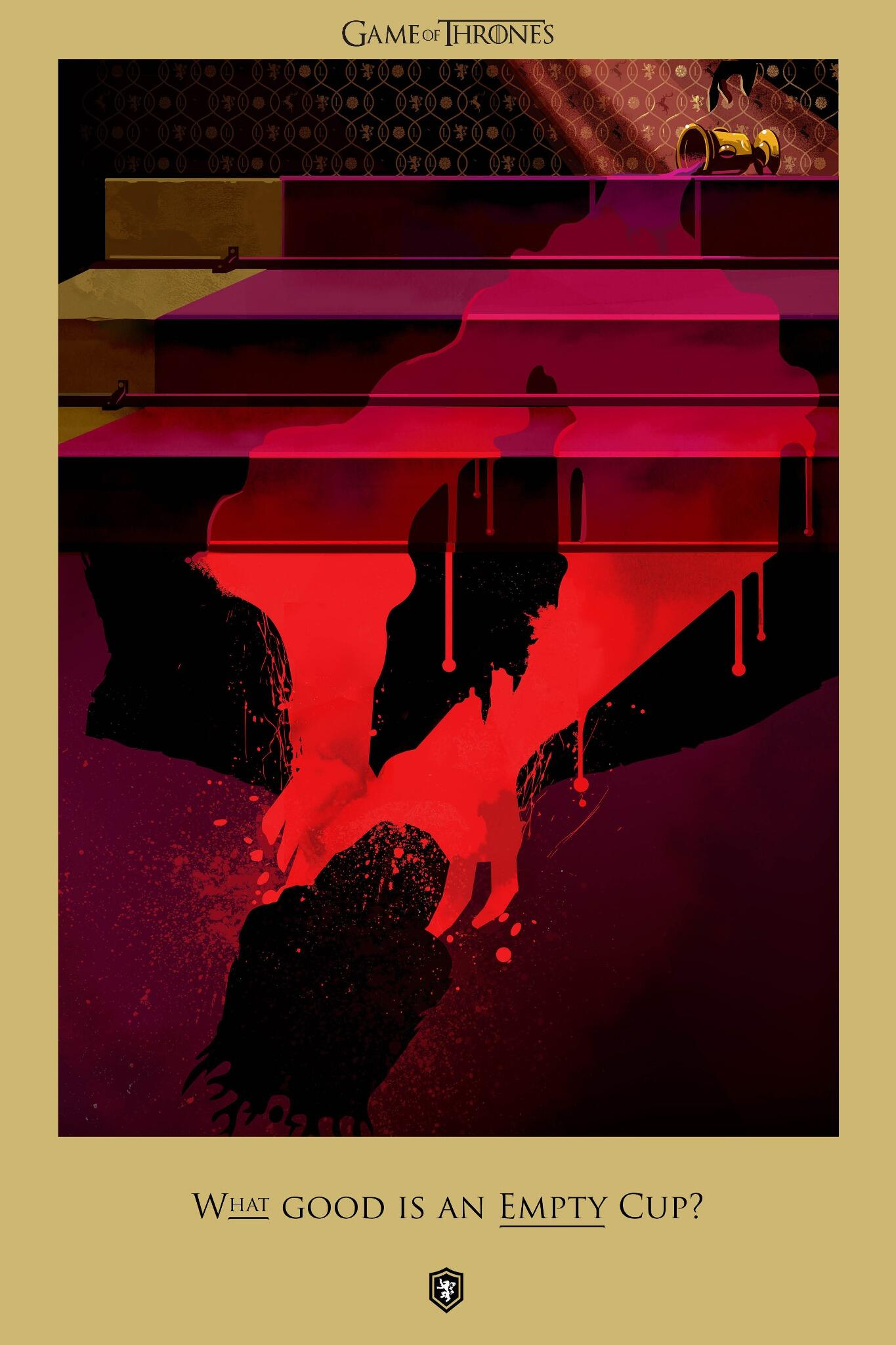 "What good is an empty cup?"" Behold a #BeautifulDeath the realm will never forget #purplewedding @RobertMBall http://t.co/0cfKdWQEGR"