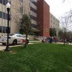 RT @wkuherald: Officers seen walking into Grise as classes wait outside. http://t.co/XPFQQcF1Il