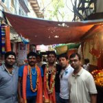 Before starting campaigning, outside kashi vishwanath temple along with few volunteers team for @narendramodi http://t.co/m6U84E4LPW