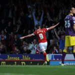 PIC: Sam Baldock enjoys his opener against Notts County. http://t.co/6zV0LJh1ri