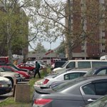 Norfolk FD says fire contained to dorm where it started. Sprinklers went off. @13NewsNow http://t.co/EFUt1K3zK9