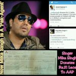 RT @sanjeev_goyal: Poster-Now Mika too Is A Pakistani Agent- Mika Donates Rs 21 Lacs To AAP @bharat_builder @parulbajaj @kapsology http://t.co/5KoIstZbuV