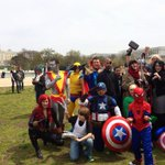 RT @LacyMB: Fantastic group of @Marvel cosplayers at the Capitol for @AwesomeCon! #dc http://t.co/k2bJqqvZsK
