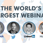 "RT @HubSpot ""Help us break the record for Worlds Largest Webinar! Heres your link to listen in for free:   http://t.co/6x4RK2lHUT""..."