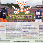 RT @UVAFBRecruiting: @CoachMikeLondon football camp poster! We want #YOU #hoos #VIRGINIASTRONG http://t.co/KRpufG45dh
