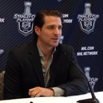#Blackhawks Patrick Sharp meets the media in St. Louis. http://t.co/VDsr9qgh8x