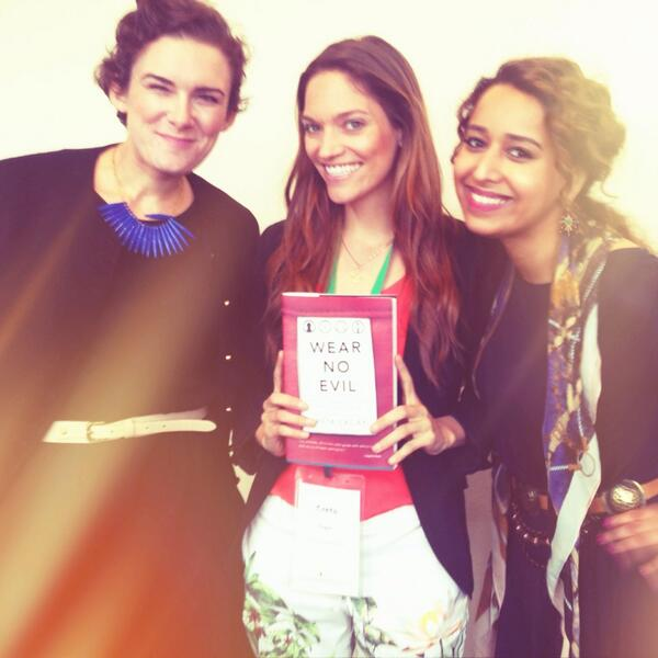 """@project_JUST founders @ShahdAlShehail & @nataliegrillon w/ author of Wear No Evil @gretaeagan gretaeagan #fashion http://t.co/hsLyYD1gLY"""