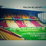 RT @bcwfc: Please, please RT to promote our fixture at Valley Parade! http://t.co/85cFz2ij8H