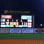 @USMVoice @BigGoldNation @CrazyEagle98 @jesse081990 2-0 win for Eagles, 22-17 and lead La Tech series! #SMTTT http://t.co/LqBDDCPAfK