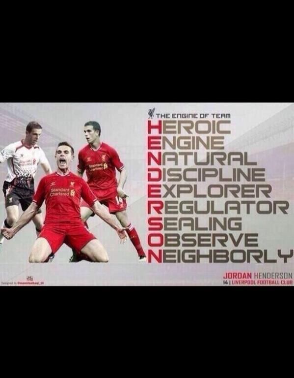 Magnificent. Liverpool fan's attempt at a Jordan HENDERSON acrostic descends into utter gibberish: http://t.co/2jrjVKyOGP via @the_itch1980