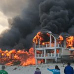 #BREAKING Another viewer pic of major beachfront fire in Sea Isle, NJ.  At least 3 large homes involved #6abc http://t.co/DEF154hraL