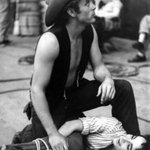 James Dean & Elizabeth Taylor on the set of Giant, 1956 http://t.co/dB8u67gZKM