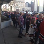 The line for the beach towels is out the door! @goicehogs host the Wolves trying to make a final playoff push. http://t.co/ykU6E5KSXQ