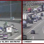 Uh-oh. RT @KIROTraffic #Tacoma - NB 5 past SR 16 a crash blks the 2 left lanes. Heavy from 56th St http://t.co/bbc9qeHffT