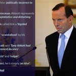 RT @MarianRakosi: NOT. MY. PM. What does the rest of the world think of Tony Abbott? #auspol http://t.co/HPAVuYkZGe