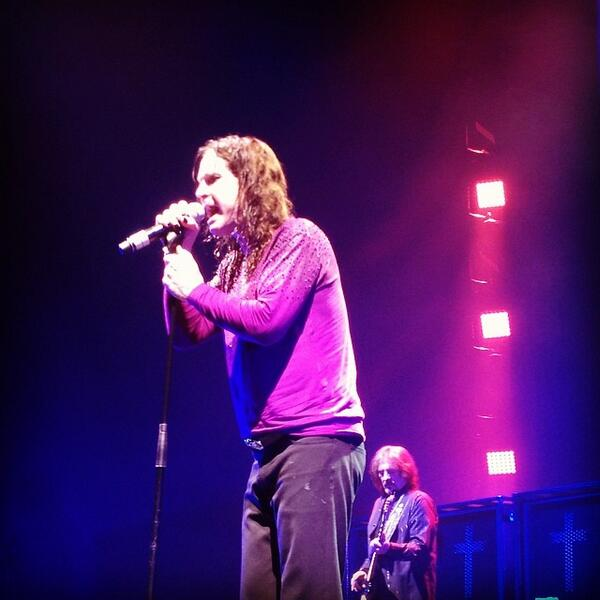 My @ozzyosbourne on stage with @blacksabbath tonight in Saskatoon, Saskatchewan!