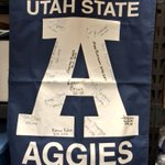 And the banner is signed. What a fun year it was being Athletics VP. 140 characters doesnt cut it. @UtahStateSA http://t.co/TzoHhRycC6