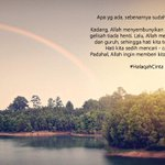RT @TeladanRasul: Allah datangkan gemuruh&hujan.Karena setelhnya,DIA ingin menghadiahknkita Pelangi :) Buku #HalaqahCinta http://t.co/3azF6p7Jun