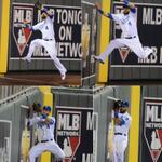 4 pictures of an awesome catch by number 4, Alex Gordon. #Royals http://t.co/hnuKj0f4wR